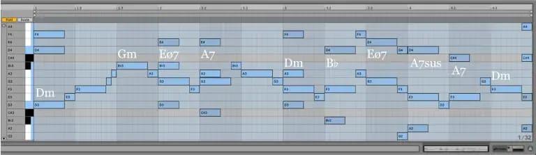 Variación 3 chacona Bach Ableton Live