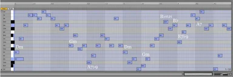 Variación 8 chacona Bach Ableton Live