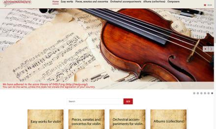 Nuevo sitio de acompañamientos para violín