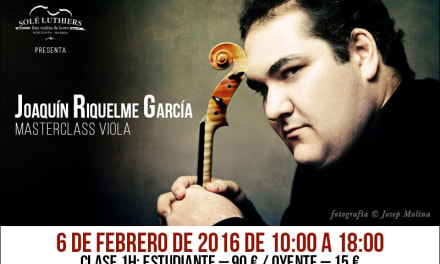 Masterclass de viola de Joaquín Riquelme en Barcelona