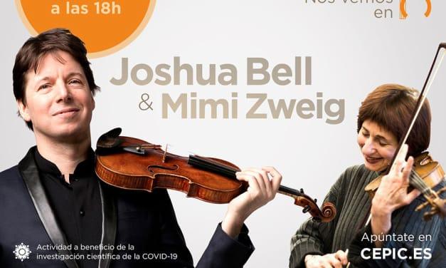 Charla de Joshua Bell & Mimi Zweig, a beneficio de la investigación del COVID-19