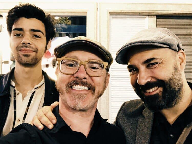 Casey Driessen, Xosé Liz y Hugo Franco