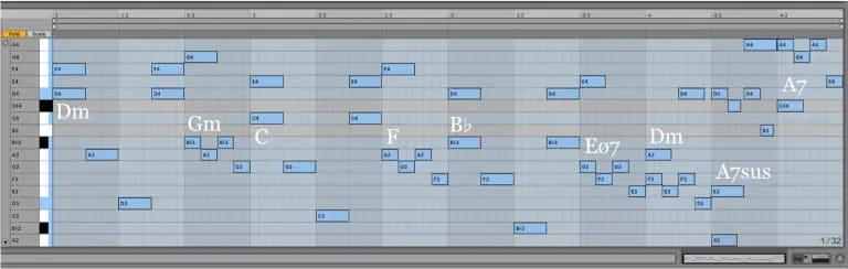 Variación 15 chacona Bach Ableton Live