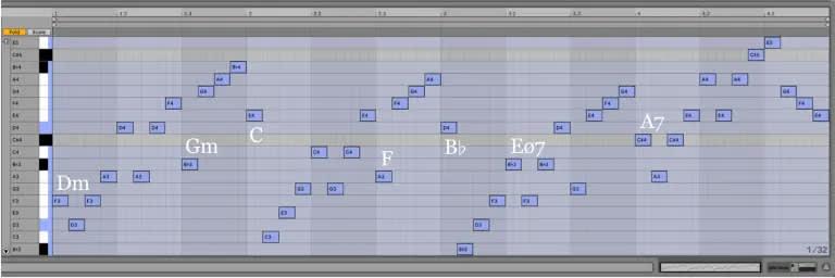Variación 14 chacona Bach Ableton Live