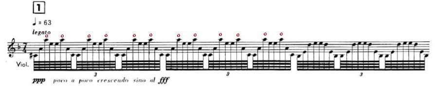 armónicos en acordes de Fratres