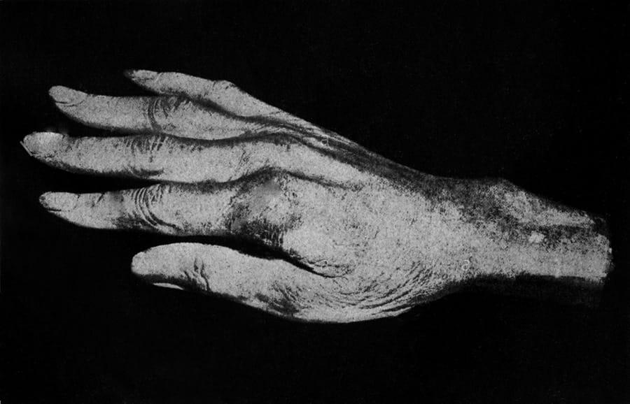 Molde de la mano de Paganini