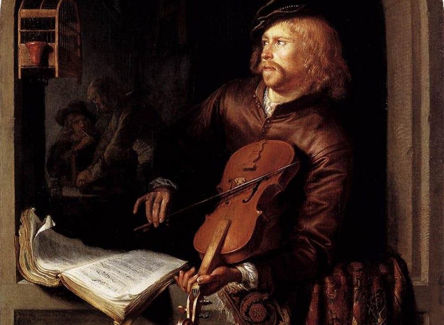 Sujeción de violín barroco
