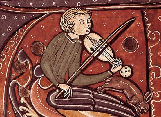 Ángel tocando un ravel.