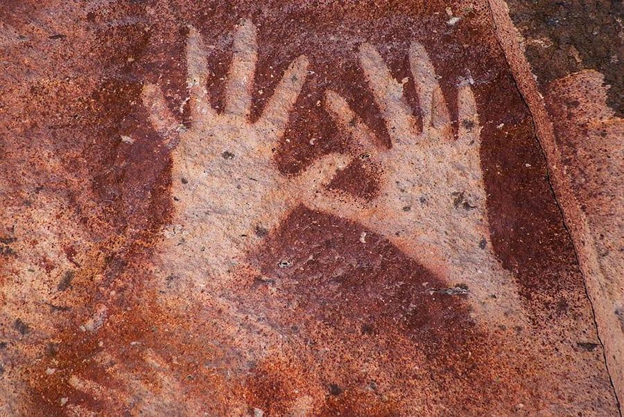Pinturas rupestres en la Cueva de las Manos