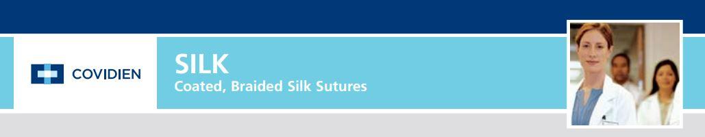 Covidien Part #SS722 - Suture 3-0 Silk SC-2 Sofsilk Black 40
