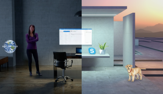 Figure 4. Mixed reality example by Microsoft
