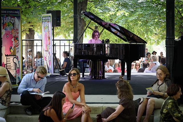 Street Piano, Chopin in the Luxembourg Gardens, Paris 28 June 2015