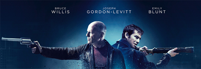Cast image from 'Looper' movie poster