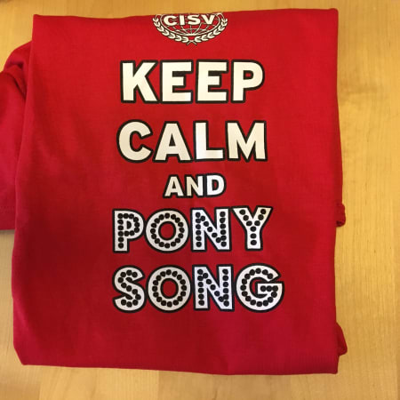 Pony Song Tee Red