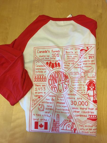 Canada Facts Baseball Tee