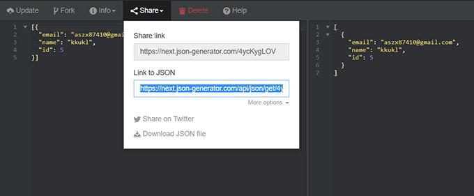 Json Generator