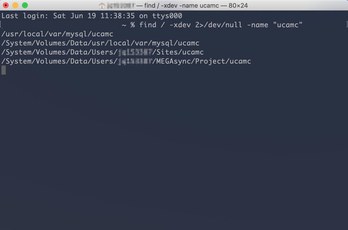 server服務器終端機(Terminal)上找到它的目錄資料夾位置