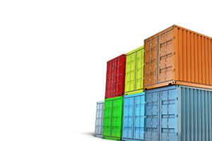 containers stacked for export
