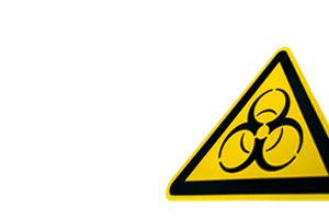 sign with biohazard symbol