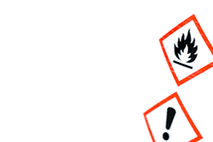 label with hazard symbols