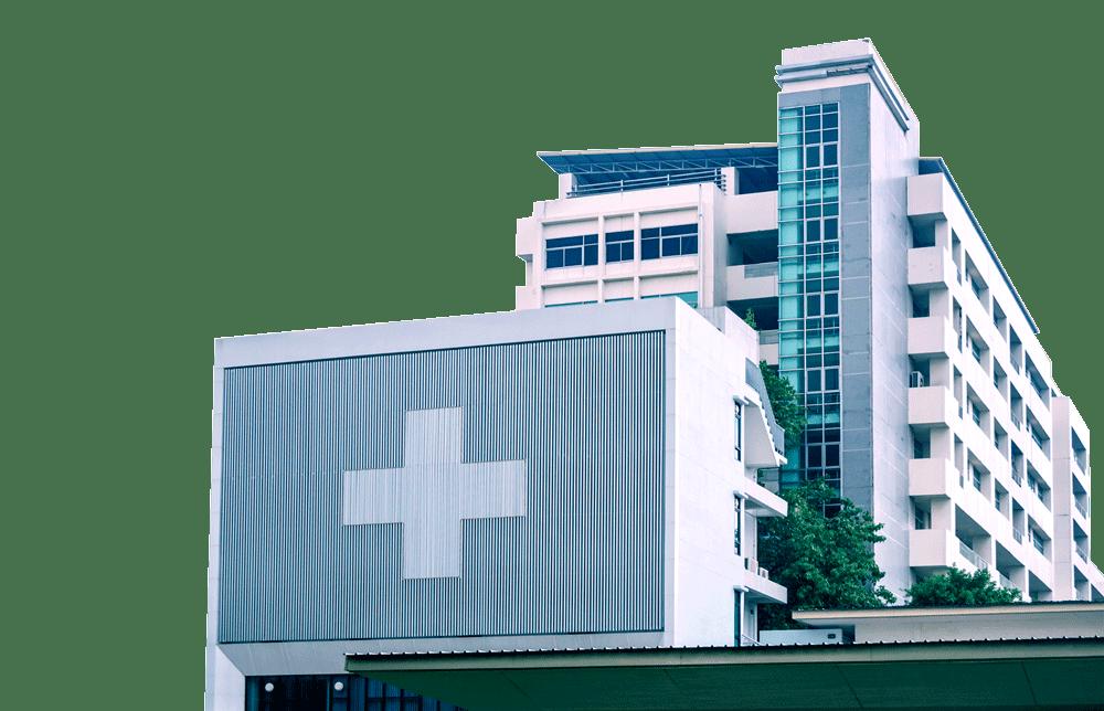 Modern hospital main building