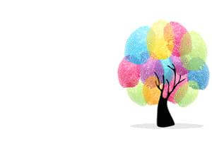 diverse fingerprints forming a tree