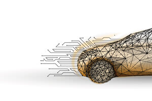 illustration of car with connected electrical patterns