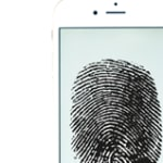 smart phone with a fingerprint for information privacy