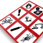 panel of safety laboratory safety symbols