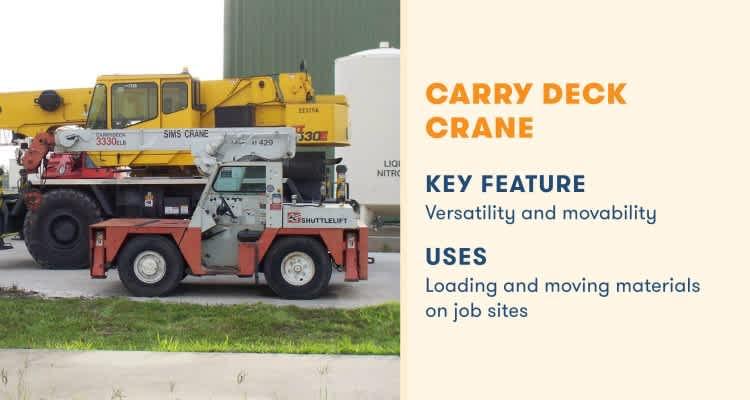 carry deck crane key feature versatile