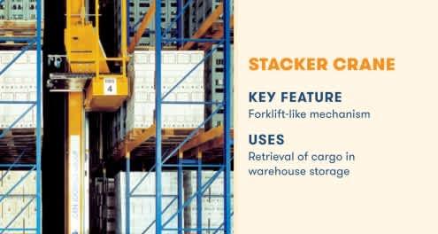 stacker crane key feature forklift-like mechanism