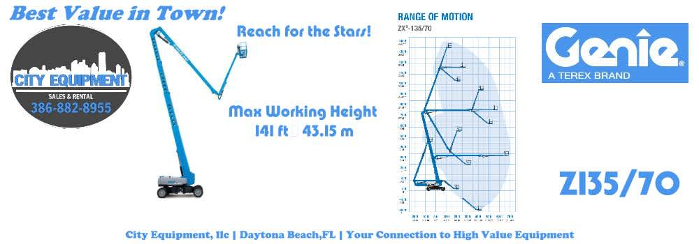 Daytona Beach Heavy Equipment and Heavy Machines Your Connection to Genie Z 135/70 Articulated Booms