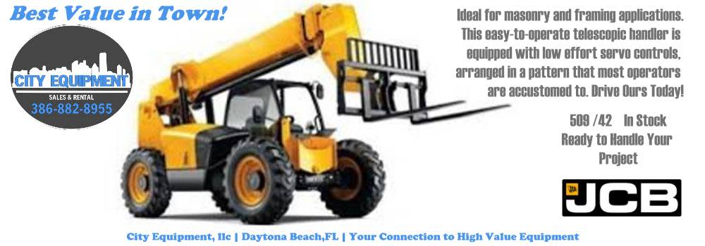 Daytona Beach Heavy Equipment and Heavy Machines Your Connection to JCB 509/42 Variable Reach Forklift/Telehandler