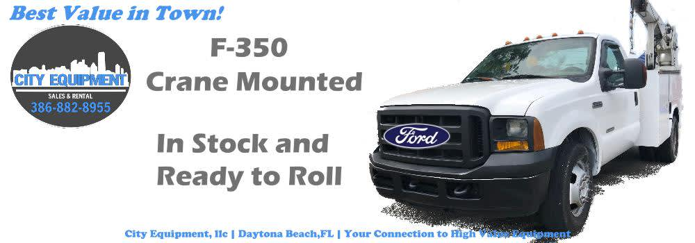 Daytona Beach Heavy Equipment and Heavy Machines Your Connection to Ford F-350 with Mounted Crane  Equipment