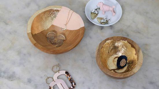 DIY Gold Leaf Jewelry Dish