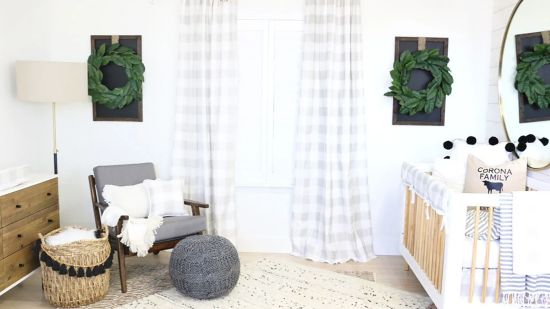 A Sophisticated Gender Neutral Baby Room