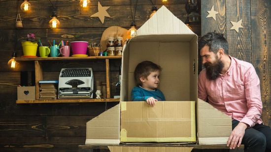 Repurpose Cardboard Boxes with Your Kids