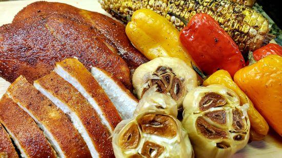 Honey Garlic Smoked Chicken