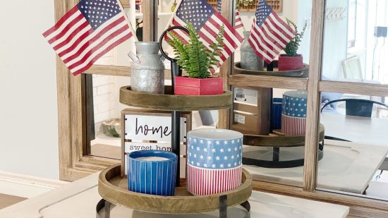 DIY Patriotic Tier Tray