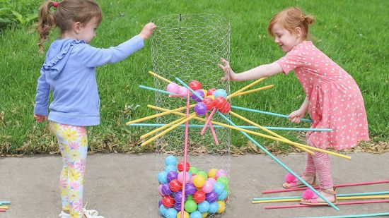 How to Make a  DIY Kerplunk Yard Game