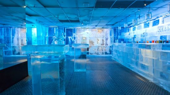 Chilling at the ICEBAR in Stockholm