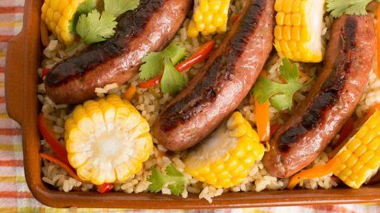 Sausage + Rice Casserole