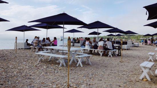 Dinner at Navy Beach, Montauk