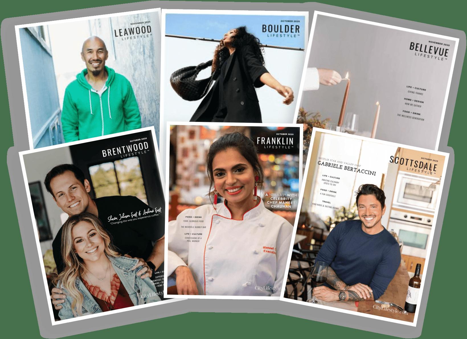 Various Lifestyle Publication covers