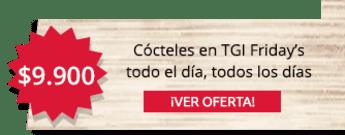TGI Fridays - ¿Quién dijo guaro? Cocteles en TGI Friday's a $9.900 todo el día, todos los días