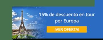 15% de descuento para conocer ocho países de Europa - Reserve Ya