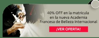 40% OFF en la matrícula en la nueva Academia Francesa de Belleza Internacional - Academia Francesa de Belleza Internacional