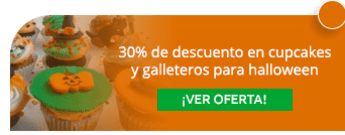 30% de descuento en cupcakes y galleteros para halloween - Cook Inc. Catering y Eventos