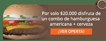 Por solo $20.000 disfruta de un combo de hamburguesa americana + cerveza - Santa Hamburguesa Usaquen