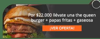 Por $22.000 llévate una The Queen Burger + papas fritas + gaseosa - Forastero Shawarma & Burguer